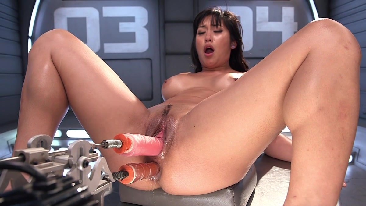 Anal Sex Machine Porn naughty solo fuck with sex machines for horny asian milf